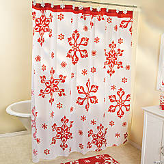 Holiday Snowflake Shower Curtain