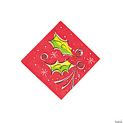 Holly Pop Beverage Napkins