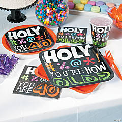 Holy Beep 40th Birthday Party Supplies