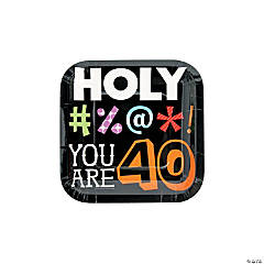 Holy Bleep 40th Birthday Paper Dessert Plates