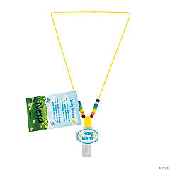 Holy Water Bottle Necklace with Card Craft Kit
