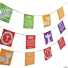 Holy Week Plastic Pennant Banner
