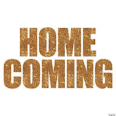 Homecoming Gold Glitter Cutouts