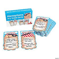 Homophone Dry Erase Card Set