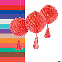 Honeycomb Tissue Balls with Tassel