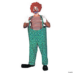 Hooped Clown Pants Set Adult Costume