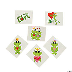 Hoppy Valentine's Day Frog Tattoos