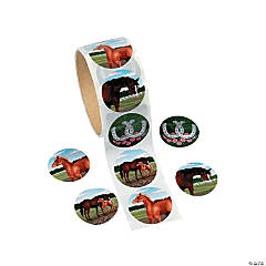 Horse Party Sticker Rolls