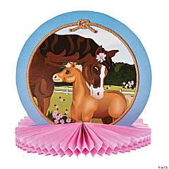Horse Party Tissue Centerpiece