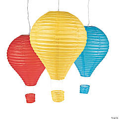 Hot Air Balloon Hanging Paper Lantern Set