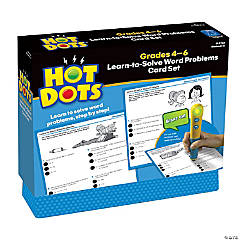 Hot Dots® Learn to Solve Word Problems Set, Grades 4-6