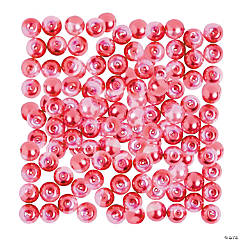 Hot Pink & Pink Pearl Beads - 8mm