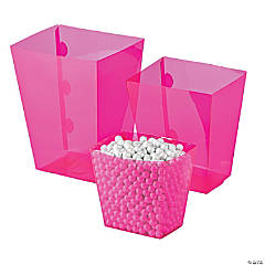 Hot Pink Candy Buffet Buckets