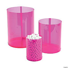 Hot Pink Candy Buffet Cylinders