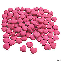 Hot Pink Candy Hearts