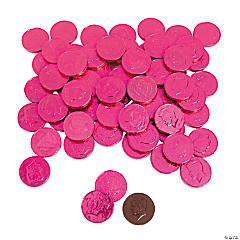 Hot Pink Chocolate Coins