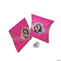 Hot Pink Custom Photo Pillow Boxes