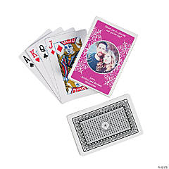 Hot Pink Custom Photo Playing Cards