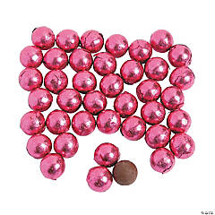 Hot Pink Foil Chocolate Balls