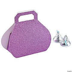 Hot Pink Glitter Favor Boxes