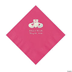 Hot Pink Irish Personalized Napkins - Luncheon