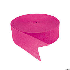 Hot Pink Jumbo Paper Streamers