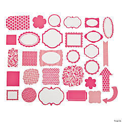 Hot Pink Monochromatic Die Cut Shapes