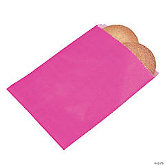 Hot Pink Parchment Treat Bags