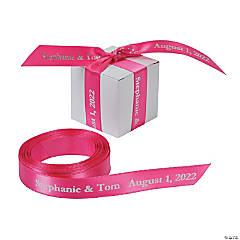 "Hot Pink Personalized Ribbon - 5/8"""
