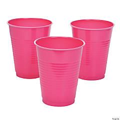 Hot Pink Plastic Tumblers
