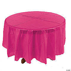 Hot Pink Round Tablecloth