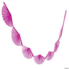 Hot Pink Semi Fanburst Garland