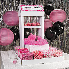 Hot Pink Wedding Candy Buffet Idea