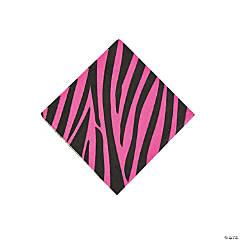 Hot Pink Zebra Beverage Napkins