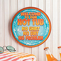 Hot Tub Wall Sign