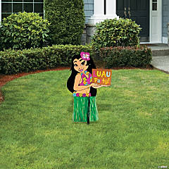 Hula Girl Yard Sign