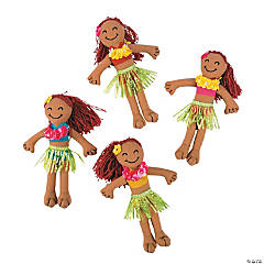 Hula Girl Yarn Hair Dolls