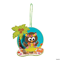 Hula Owl Sign Craft Kit
