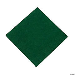 Hunter Green Beverage Napkins