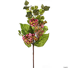 "Hydrangea Berry Spray 32""-Pink"