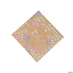 I Do Floral Luncheon Napkins