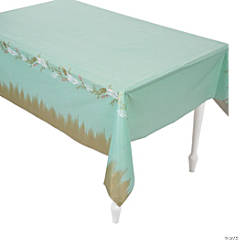 I Do Mint Plastic Tablecloth