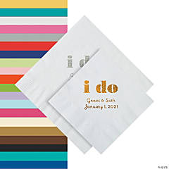 I Do Personalized Napkins - Beverage or Luncheon