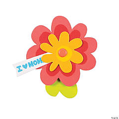I Heart Mom Flower Pin Craft Kit