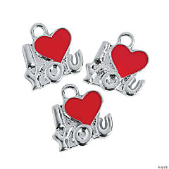 I (Heart) You Charms - 16mm
