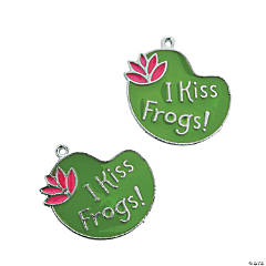 I Kiss Frogs Enamel Charms