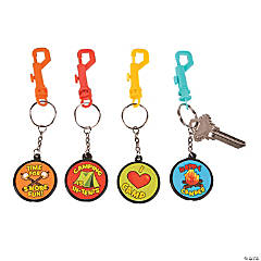 I Love Camp Backpack Clip Key Chains