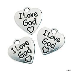 I Love God Charms