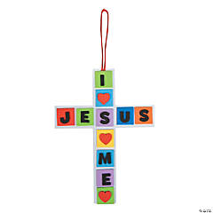 """I Love Jesus, Jesus Loves Me"" Cross Craft Kit"