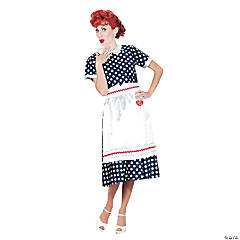 I Love Lucy Polka Dot Dress Adult Women's Costume